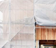 久山の家 杉板の外壁