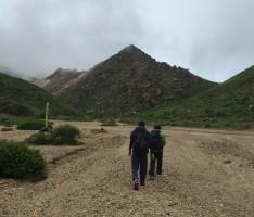 山登り 九重山